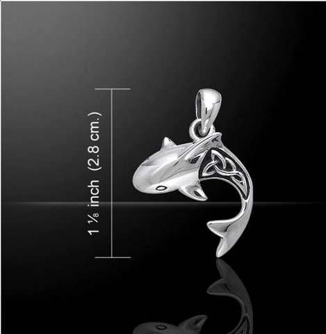Celtic Shark Sterling Silver Necklace - scubadivingaddicts