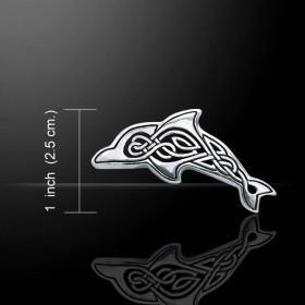 Celtic Dolphin Sterling Silver Necklace - scubadivingaddicts