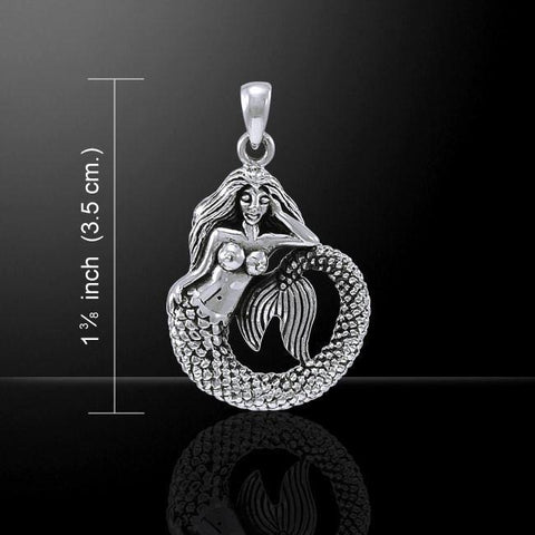Image of White Mermaid Sterling Silver Necklace - scubadivingaddicts