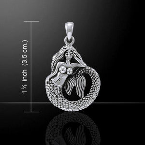 White Mermaid Sterling Silver Necklace - scubadivingaddicts