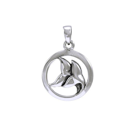Double Whale Tail Sterling Silver Necklace