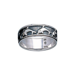 Silver Dolphin Spinner Ring