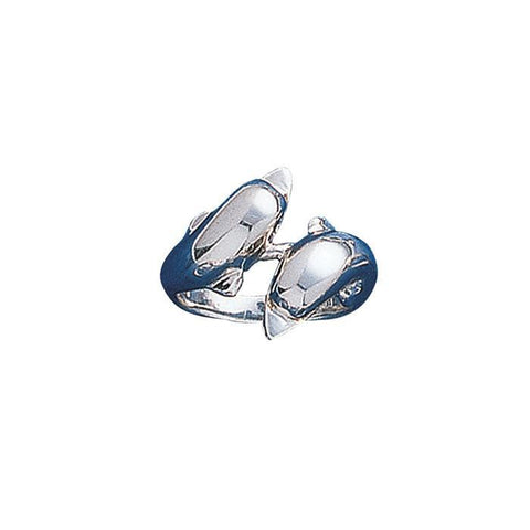 Image of Double Dolphins Sterling Silver Ring
