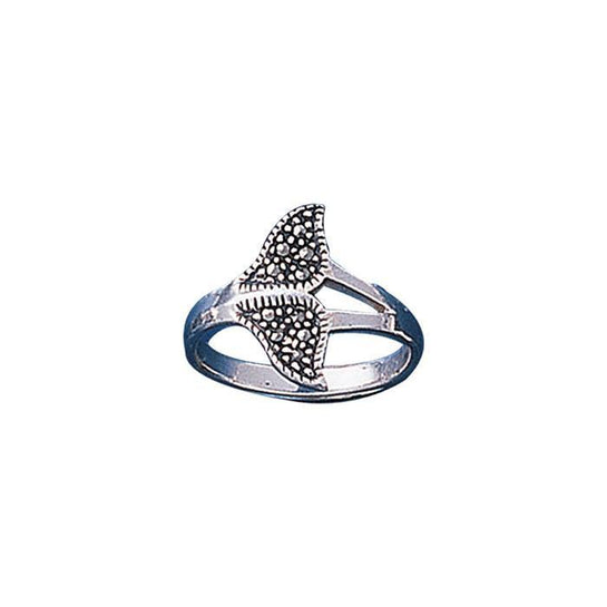 Marcasite Humpback Whale Sterling Silver Ring