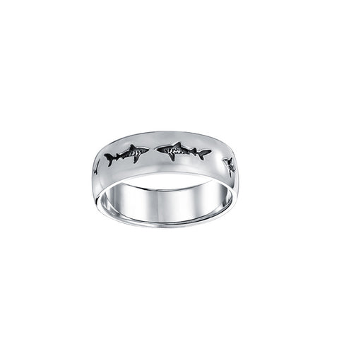 Image of Shark School Sterling Silver Ring