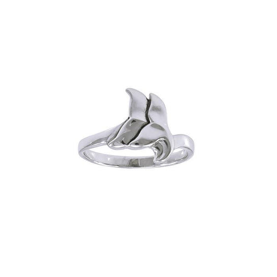 Double Whale Sterling Silver Wrap Ring