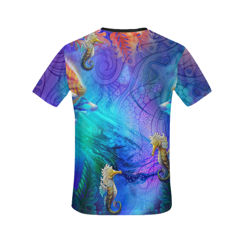 Seahorse Dream Women's All Over Print T-Shirt (Warehouse)