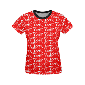Scuba Love Women's All Over Print T-Shirt