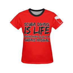 Scuba Diving is Life Women's All Over Print T-Shirt