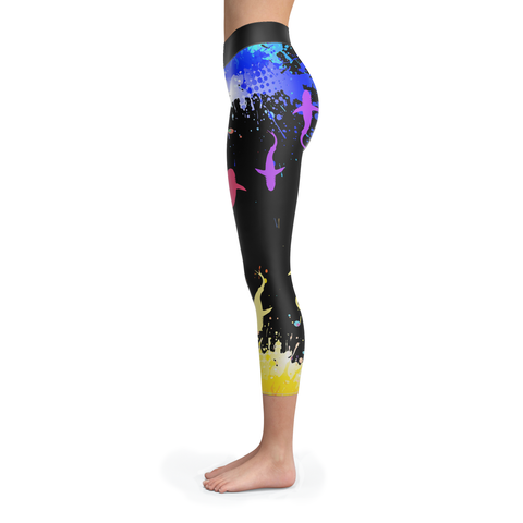 Image of Colourful Sharks Capris