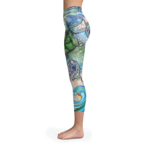 Turtle Collage Capris