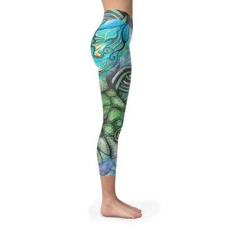 Image of Turtle Collage Capris (Warehouse)