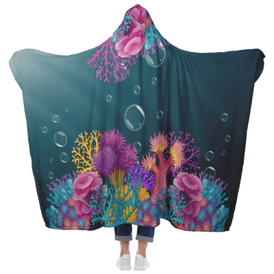 Coral Hooded Blanket