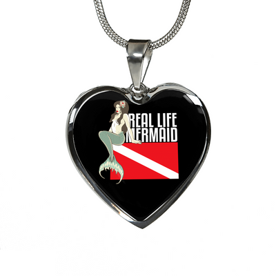 Real Life Mermaid Heart Necklace