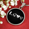 LOVE Scuba Round Necklace