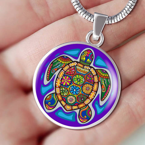 Turtle Gem Pendant Necklace