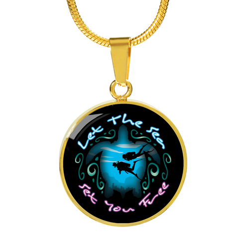 Image of Let The Sea Set You Free Necklace