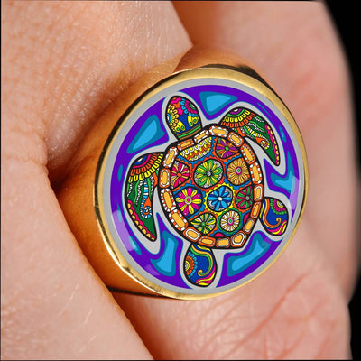 Turtle Gem Ring