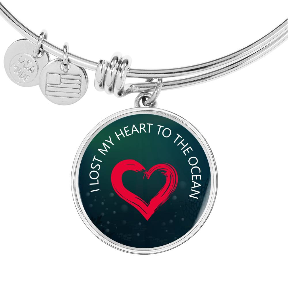 I Lost My Heart To The Ocean Bangle