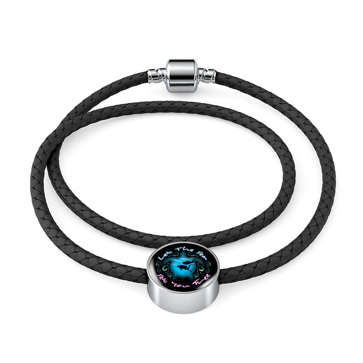 Let The Sea Set You Free Double Braided Leather Bracelet