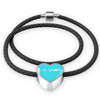 Scuba Is My Heartbeat Blue Heart Braided Bracelet