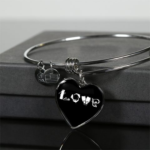 Love Scuba Heart Necklace