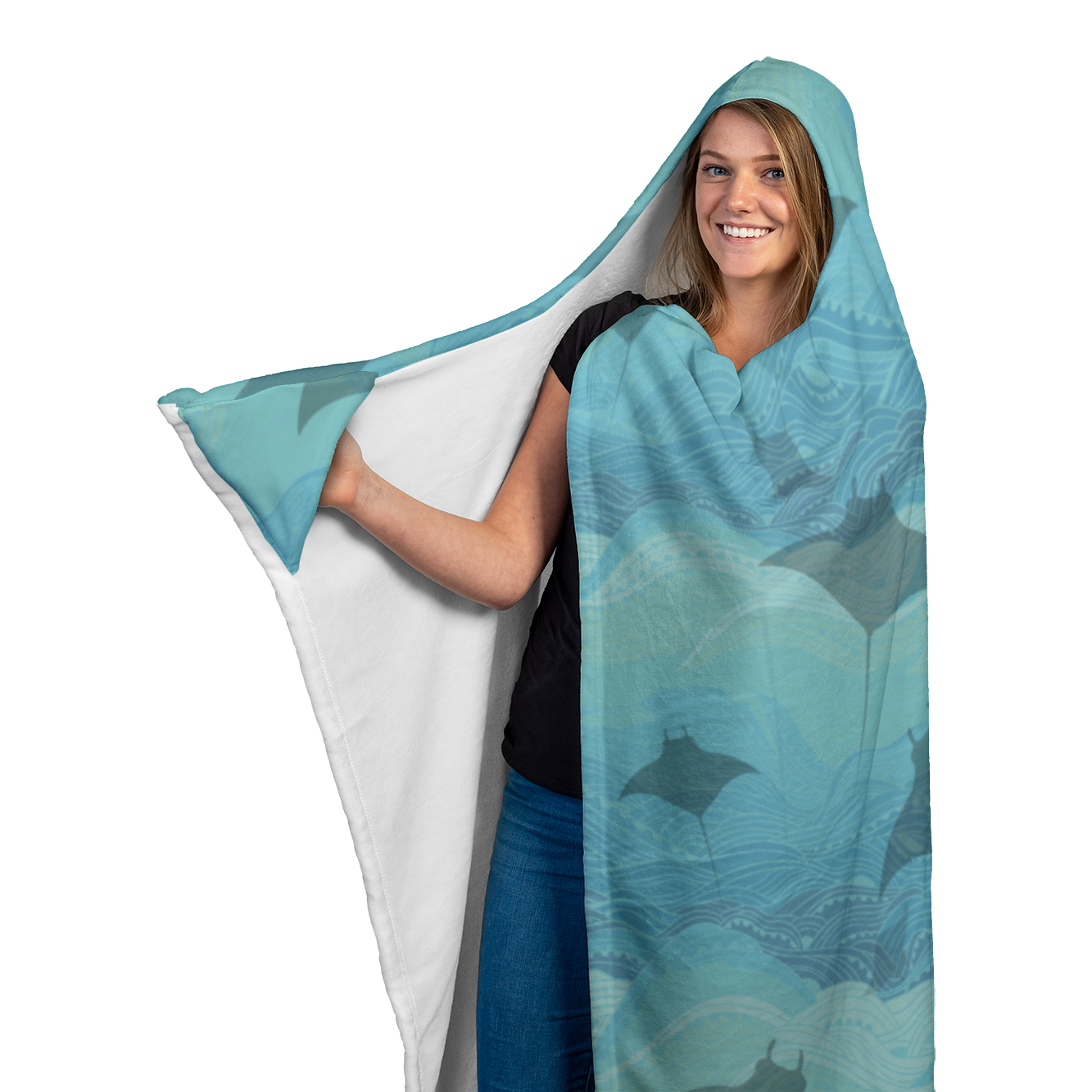 Manta Waters Hooded Blanket