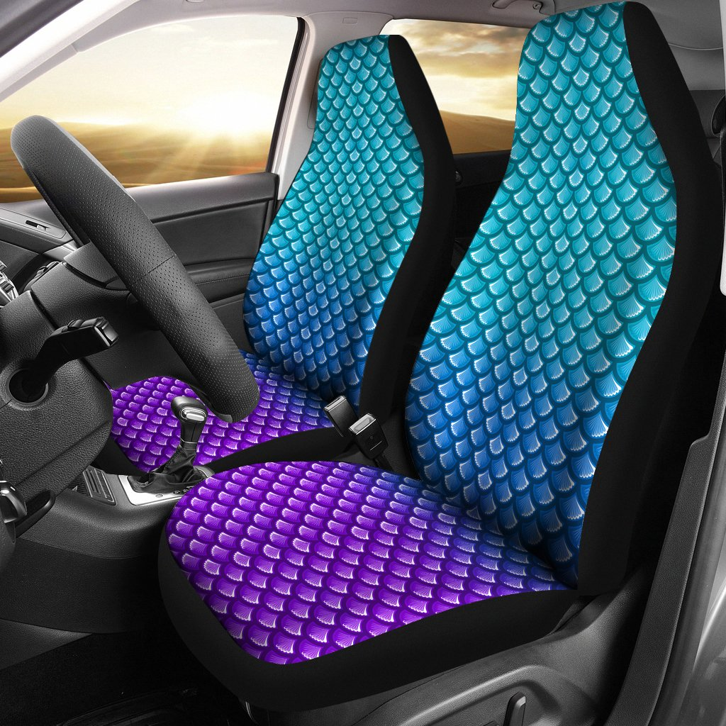 How To Flip Cars >> Mermaid Scales Car Seat Cover – Scuba Diving Addicts