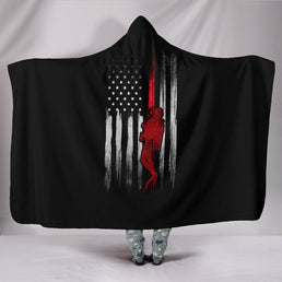 USA Scuba Flag Hooded Blanket