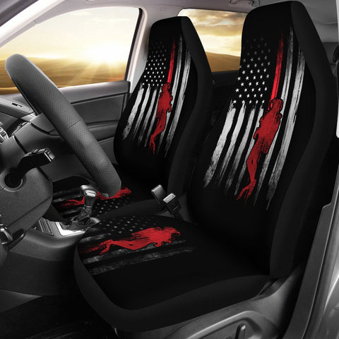 USA Scuba Flag Car Seat Cover