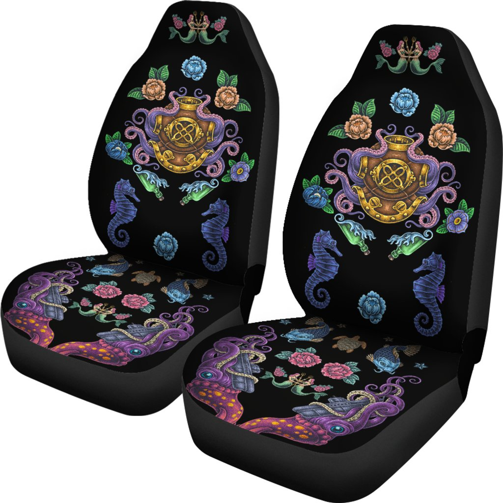 Ocean Style Car Seat Cover Scuba Diving Addicts