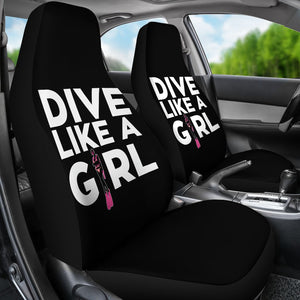 Dive Like A Girl Car Seat Covers