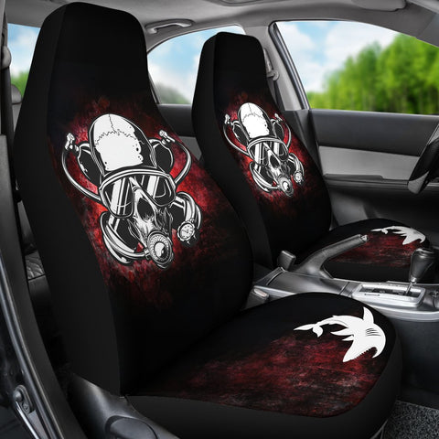 Image of Skull Diver Car Seat Cover
