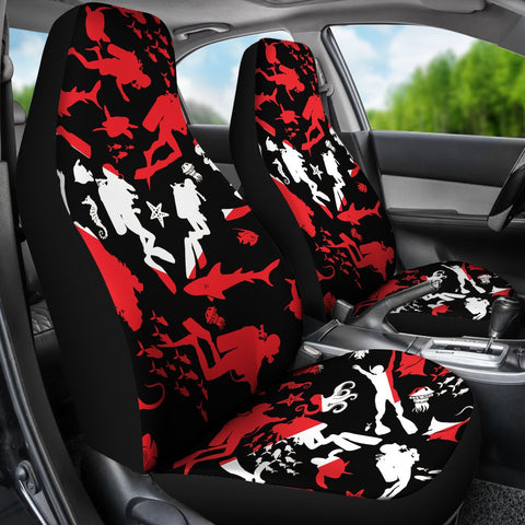 Image of Scuba Diver Car Seat Cover