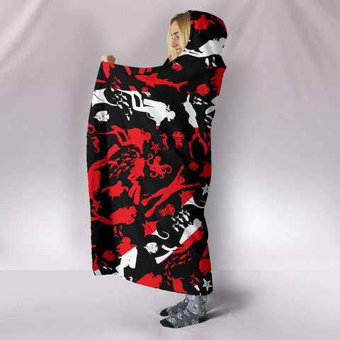 Image of Scuba Diving Hooded Blanket