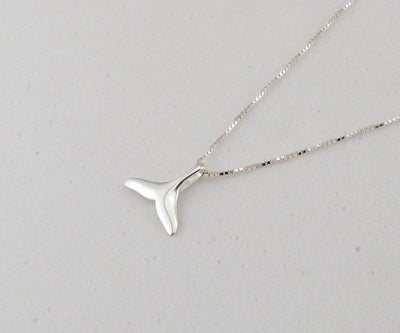 Whale Tail Sterling Silver Necklace - scubadivingaddicts