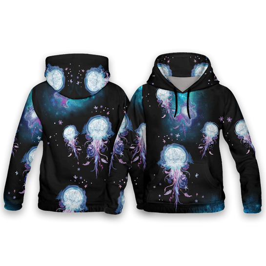 Jellyfish Wonderland All Over Print Hoodies