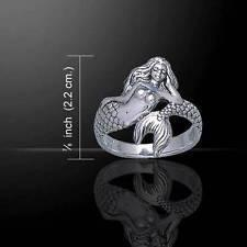 White Mermaid Sterling Silver Ring - scubadivingaddicts