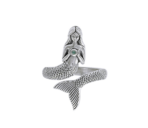 Image of Mermaid Wrap Sterling Silver Ring