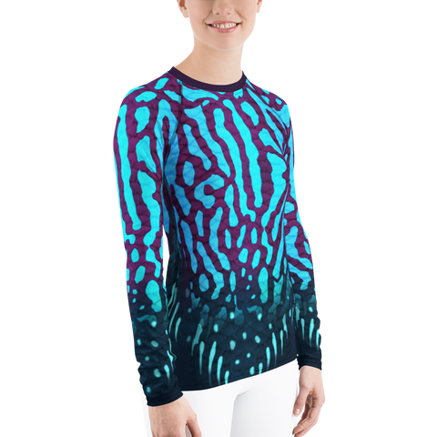 Image of Royal Discuss - Women's Rash Guard