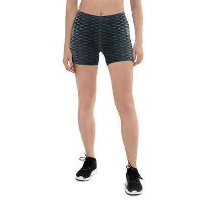 Black Scales Shorts