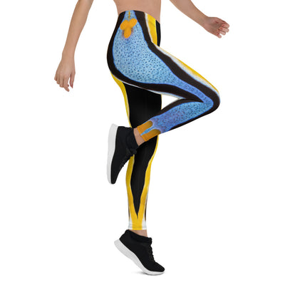 Yellow Striped Nudi Leggings