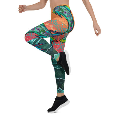 Dolphin Mandala Leggings