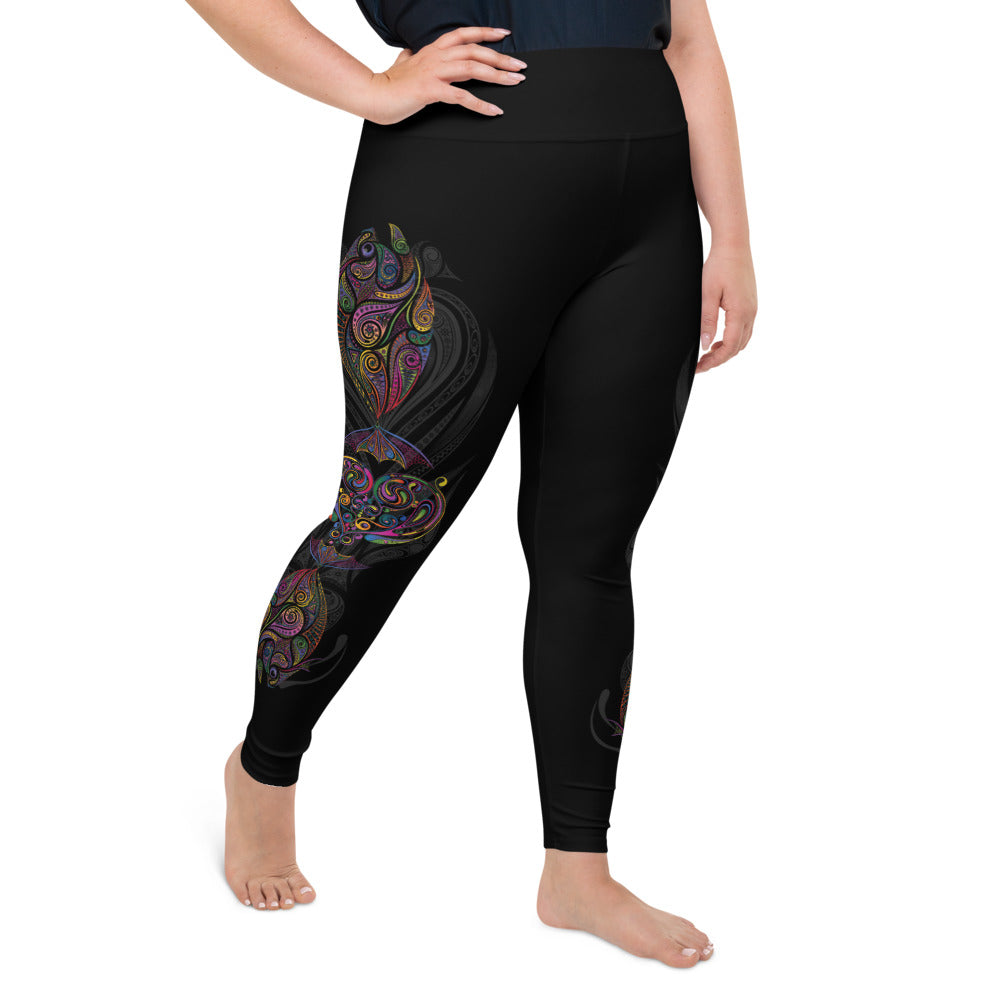 Parrotfish Plus-Size Leggings