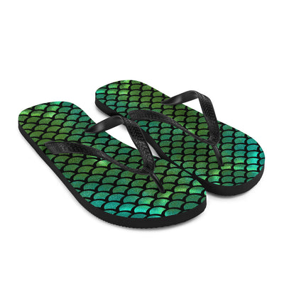 Green Tail Mermaid Flip-Flops