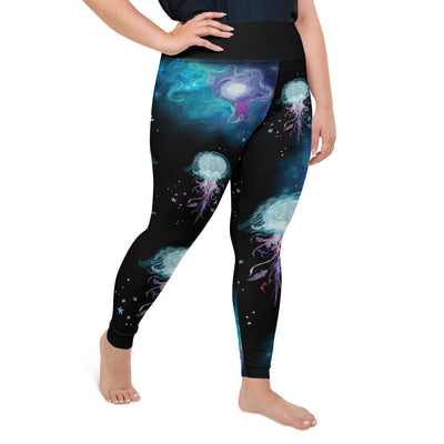 Jellyfish Wonderland Plus-Size Leggings