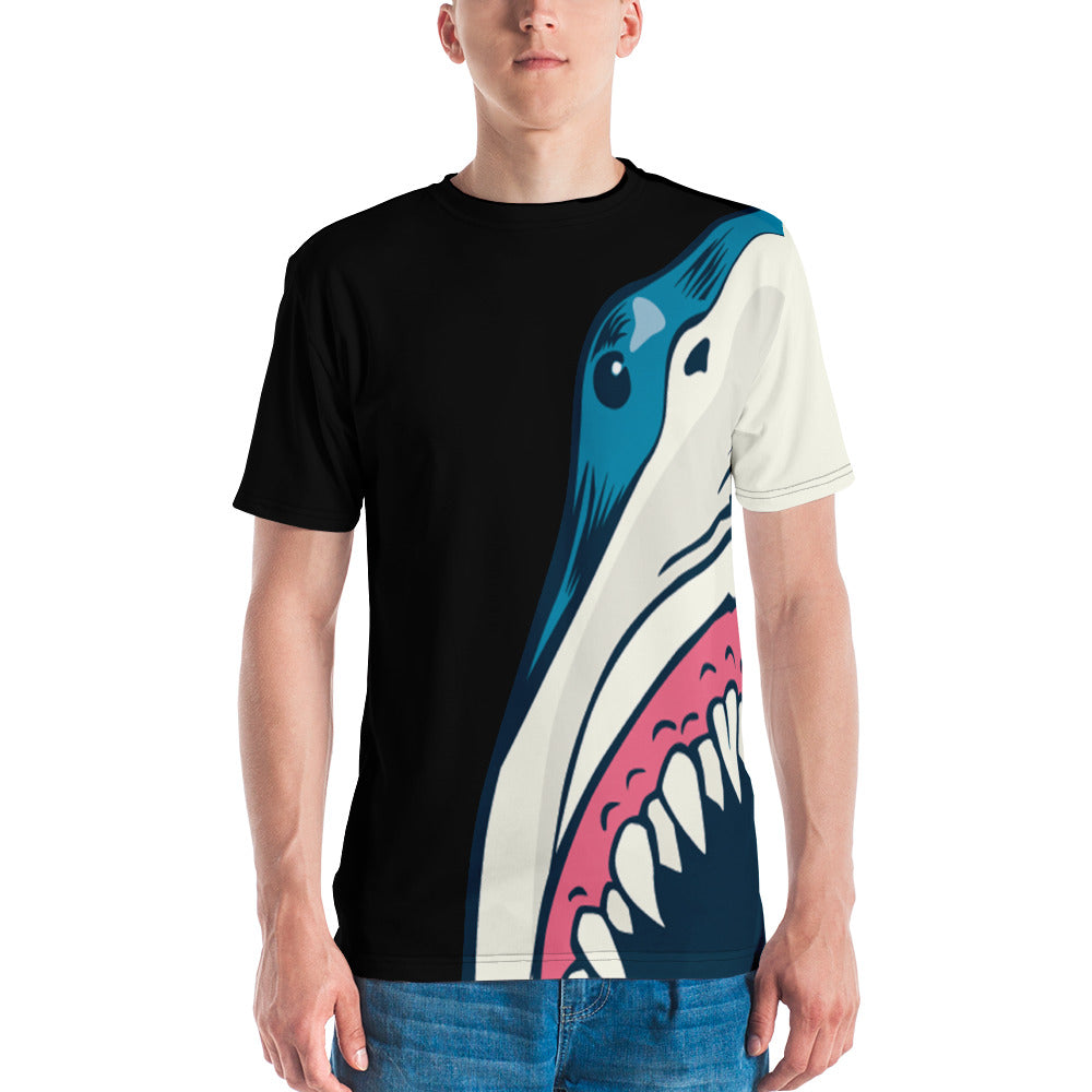 Shark Bite Mens Crewneck Shirt