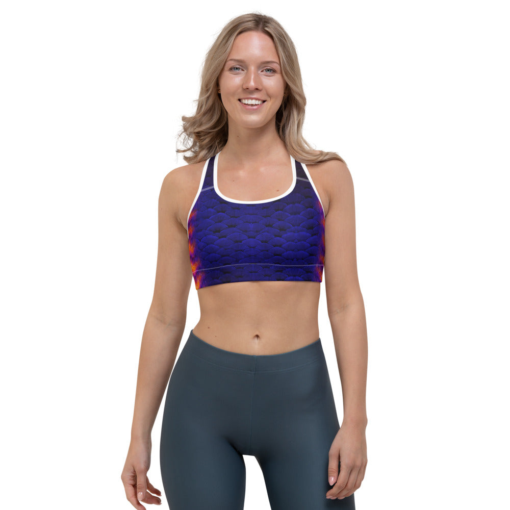 Coral Beauty Sports Bra (Warehouse)