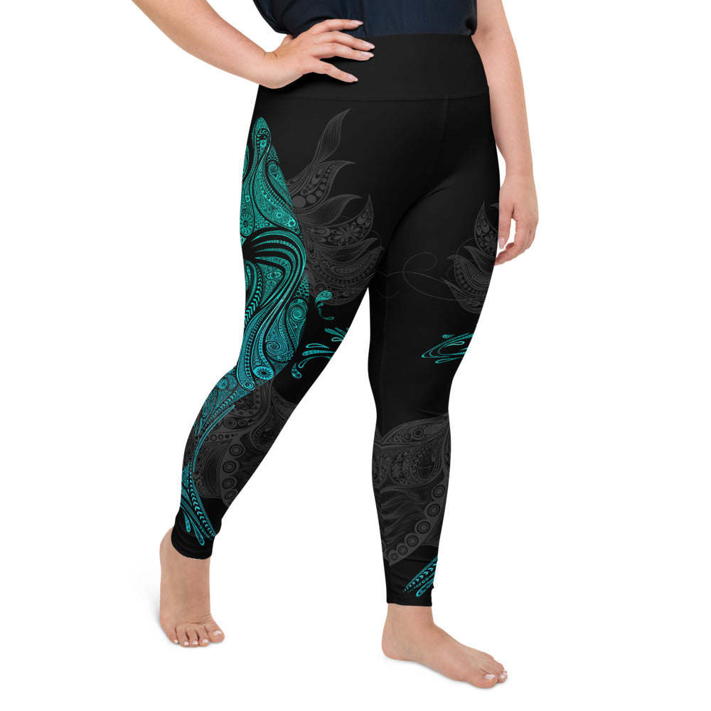 Ornamental Shark Plus-Size Leggings