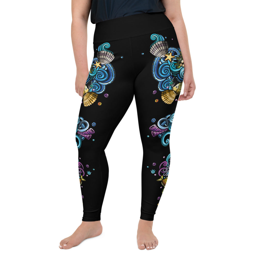 Ocean Jubilee Plus-Size Leggings